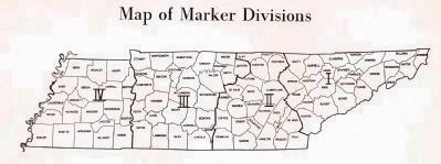 Map of Tennessee Marker Divisions image. Click for full size.