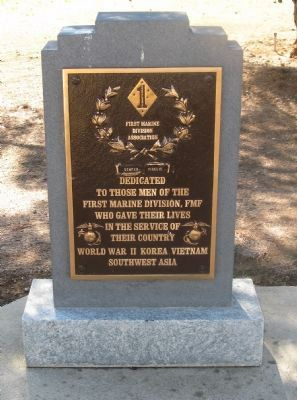 First Marine Division – FMF Memorial Marker image. Click for full size.