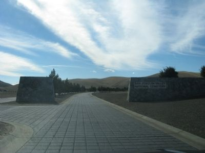 Entrance to the San Joaquin Valley National Cemetery image. Click for full size.
