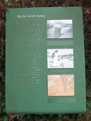 The Cos Cob Art Colony Marker image. Click for full size.