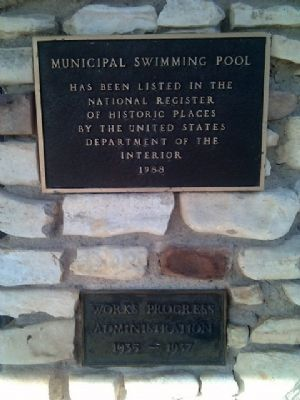 Additional Markers at Municipal Swimming Pool image. Click for full size.