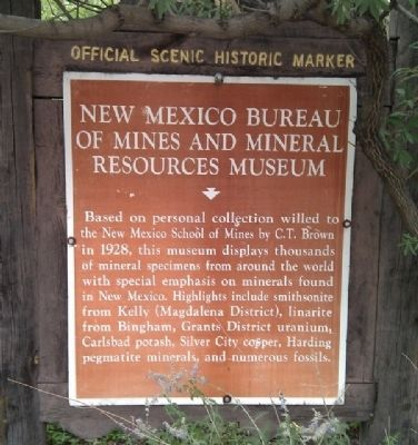 New Mexico Mineral Museum Marker image. Click for full size.