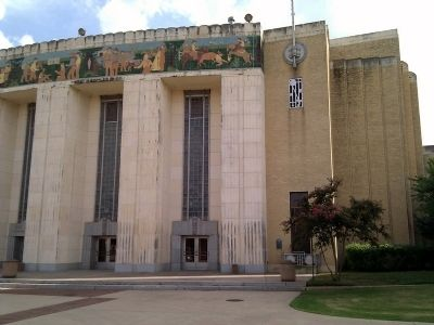 Will Rogers Coliseum and Herbert M. Hinckley Marker image. Click for full size.