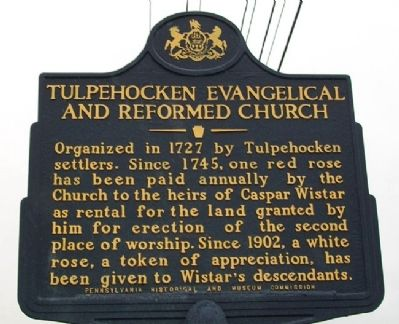 Tulpehocken Evangelical and Reformed Church Marker image. Click for full size.