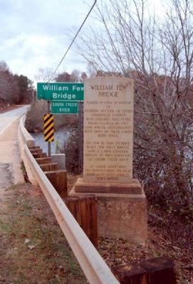 William Few Bridge Marker image. Click for full size.