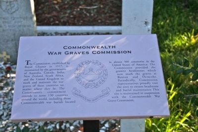 Commonwealth War Graves Commission plaque. image. Click for full size.