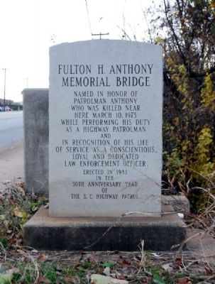Fulton H. Anthony Memorial Bridge Marker image. Click for full size.