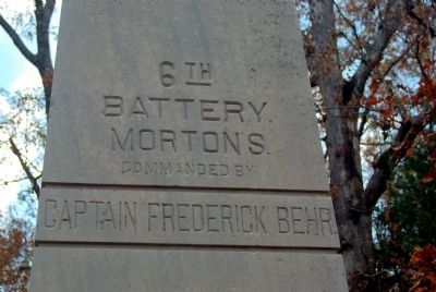 Morton's Battery Marker image. Click for full size.