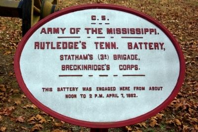 Rutledge's Tennessee Battery Marker image. Click for full size.