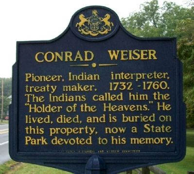 Conrad Weiser Marker image. Click for full size.
