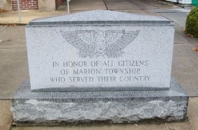 Marion Township Veterans Memorial image. Click for full size.