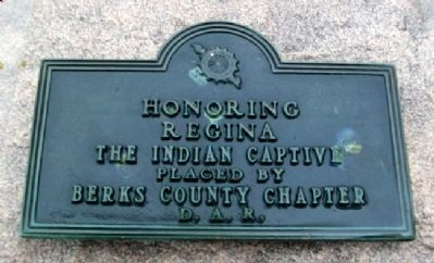 Regina Leininger D.A.R. Marker Photo, Click for full size