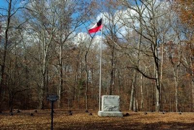 Confederate Burial Trench Marker image. Click for full size.