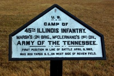 Camp of 45th Illinois Infantry Marker image. Click for full size.
