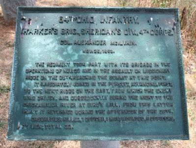 64th Ohio Infantry. Marker image. Click for full size.