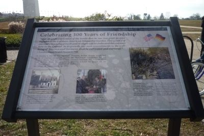 German-American Friendship Garden Marker image. Click for full size.