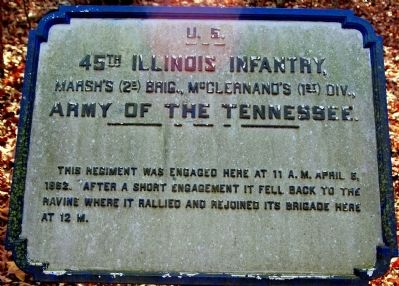 45th Illinois Infantry Marker image. Click for full size.