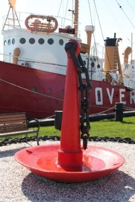 Overfalls Lightship anchor display image. Click for full size.