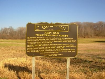 Maney Ridge Prehistoric Effigy Mounds Marker Photo, Click for full size
