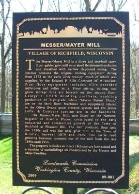 Messer/Mayer Mill Marker image. Click for full size.