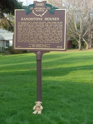 The Weston House / Sandstone Houses Marker image. Click for full size.
