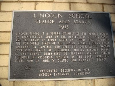 Lincoln School Marker image. Click for full size.