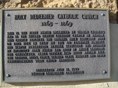 Holy Redeemer Catholic Church Marker image. Click for full size.