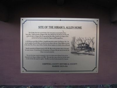 Site of the Hiram S. Allen Home Marker image. Click for full size.