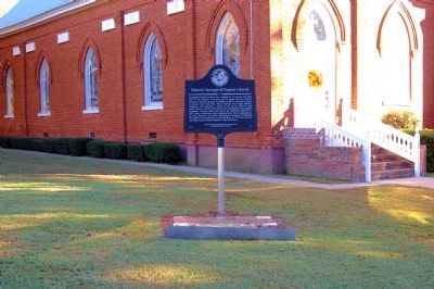 Historic Springfield Baptist Church Marker image. Click for full size.