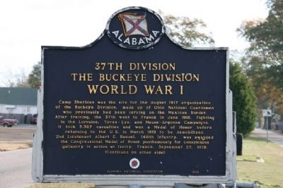 37th Division The Buckeye Division Marker (Side A) image. Click for full size.