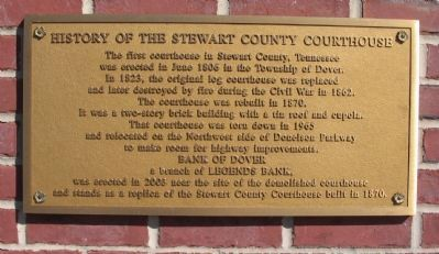 History of the Stewart County Courthouse Marker image. Click for full size.