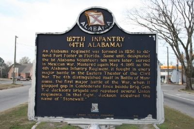 167th Infantry / Alabama�s Own Marker (Side A) image. Click for full size.
