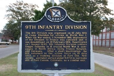 "9th Infantry Division / ""The Old Reliables"" Marker (Side A) image. Click for full size."