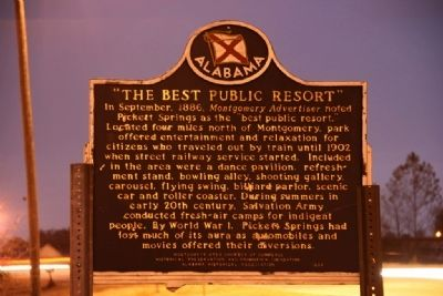 "Pickett Springs / ""The Best Public Resort"" Marker (Side B) image. Click for full size."
