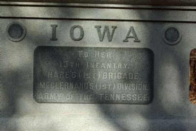 13th Iowa Infantry Marker image. Click for full size.