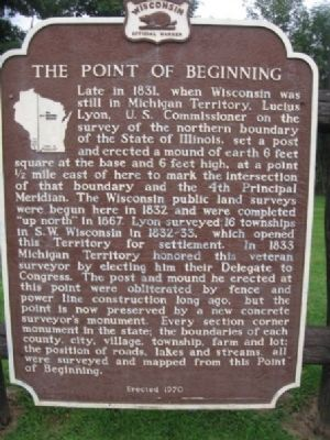 Point Of Beginning Marker Photo, Click for full size