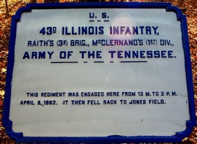 43rd Illinois Infantry Marker image. Click for full size.