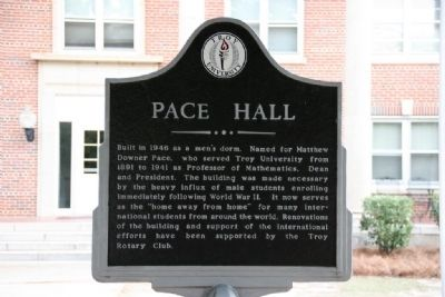 Pace Hall Marker image. Click for full size.