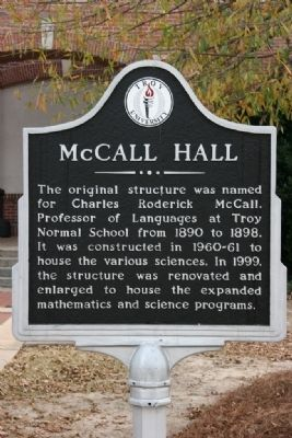 McCall Hall Marker image. Click for full size.