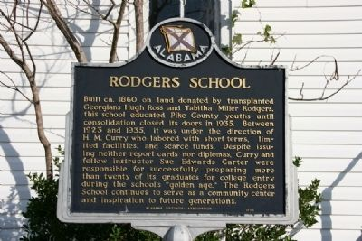 Rodgers School Marker image. Click for full size.