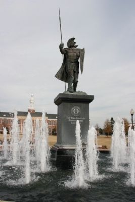 The Trojan Fountain - Troy University image. Click for full size.