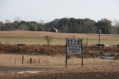 Elam Primitive Baptist Church Sign, Way Out In The Countryside. image. Click for full size.