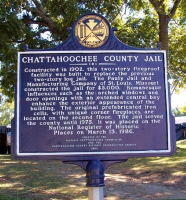 Chattahoochee County Jail Marker, Side 2 image. Click for full size.