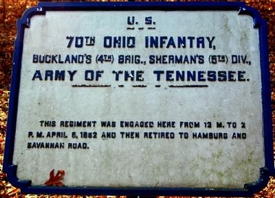 70th Ohio Infantry Marker image. Click for full size.