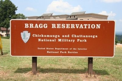 Bragg Reservation Sign image. Click for full size.