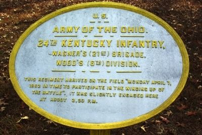 24th Kentucky Infantry Marker image. Click for full size.