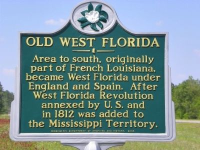 Old West Florida Marker image. Click for full size.