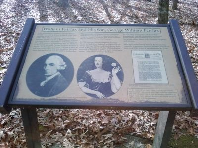 William Fairfax and His Son, George William Fairfax Marker Photo, Click for full size