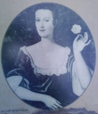 Sarah Fairfax, wife of George Wm. Fairfax Photo, Click for full size