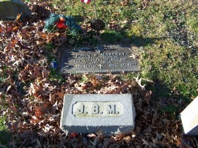 Sgt. John B. Maberry Gravesite image. Click for full size.
